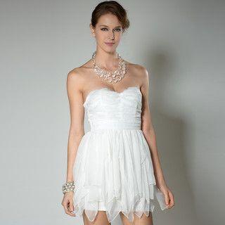 59 Seconds - Strapless Textured Mini Prom Dress