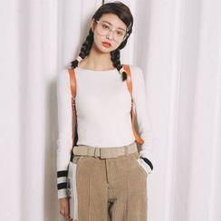 SUYISODA - Long-Sleeve Knit Top