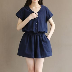 Fancy Show - Gather-Waist Playsuit