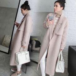 Sienne - Notch Lapel Snap Button Coat