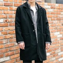 STYLEMAN - Single-Breasted Wool-Blend Coat
