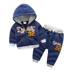 Seashells Kids - Kids Set: Applique Hoodie + Sweatpants