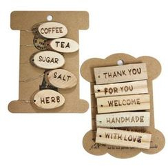 iswas - Wooden Gift Tag