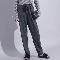 Sonne - Drawstring Straight-Fit Knit Pants