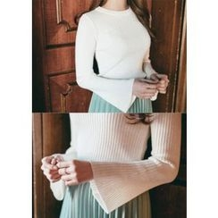 Chlo.D.Manon - Round-Neck Slim-Fit Rib-Knit Top