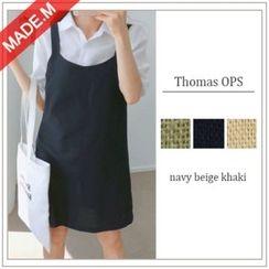 MICHYEORA - Linen Blend Jumper Dress