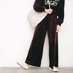Porta - Corduroy Wide-leg Pants