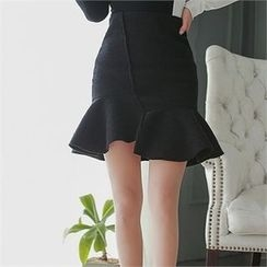 Babi n Pumkin - Ruffled Asymmetric-Hem Skirt