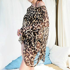 Sunset Hours - Leopard Print Beach Cover-Up