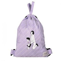 LIFE STORY - 'kiitos' Series Drawstring Illustrated Backpack