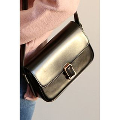 migunstyle - Snap-Button Shoulder Bag