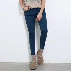 PEPER - Flat-Front Skinny Jeans