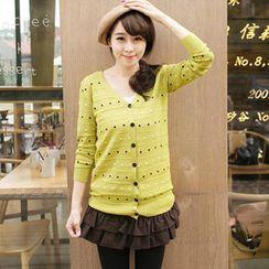 Tokyo Fashion - V-Neck Dotted Cardigan
