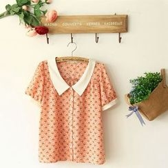 11.STREET - Printed Collared Blouse