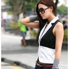 SO Central - Color-Block Chiffon Vest