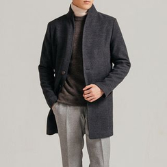 DANGOON - Single-Breasted Flap-Pocket Coat