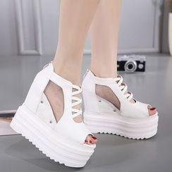 Anran - Platform Wedge Sandals