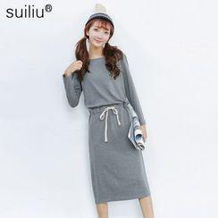 GoFlow - Drawstring Pullover Dress