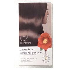 悦诗风吟 - Camellia Hair Color Cream (#02 Dark Brown): Hairdye 20g x 3 + Oxidizer 20g x 3, Hair Pack 8ml