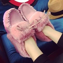 SouthBay Shoes - Furry Short Boots