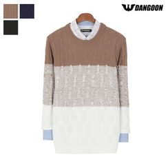 DANGOON - Color-Block Cable-Knit Sweater