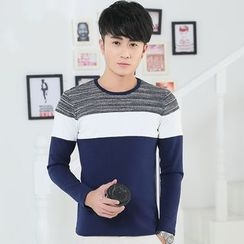 Seahound - Long-Sleeve Color Block T-Shirt