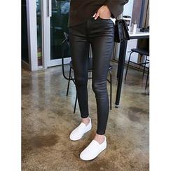hellopeco - Brushed Fleece Skinny Jeans