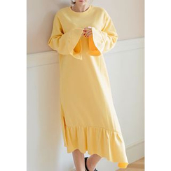 REDOPIN - Ruffle-Hem Long Dress