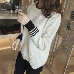 Little V - Colour Block Knit Top