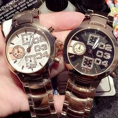Nanazi Jewelry - 水鑽鋼帶手錶
