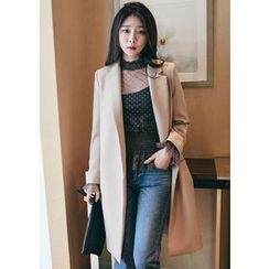 Chlo.D.Manon - Notched-Lapel Open-Front Coat