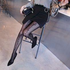 DABAGIRL - Buckled Mini Wrap Skirt