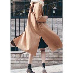 Chlo.D.Manon - Slit-Side Wool Blend Long Coat