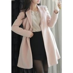 MyFiona - Wrap-Front A-Line Coatdress with Belt