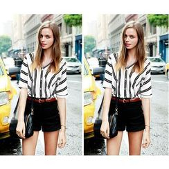 Fundae - Short-Sleeve Striped Shirt