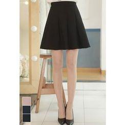 MyFiona - Zip-Side Flared Mini Skirt