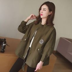 Cocofield - Loose Fit Long Jacket