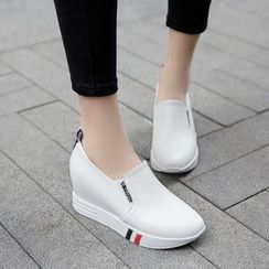 Pretty in Boots - Hidden Wedge Slip Ons