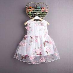 Kidora - 小童碎花无袖连衣裙