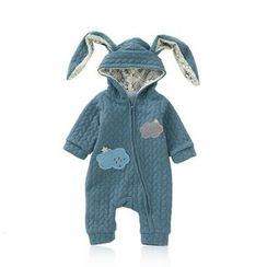 JIMIJIMI - Baby Rabbit Ear Hooded One-Piece