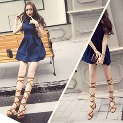 BAYO - Lace-Up Gladiator Sandals