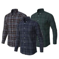 Seoul Homme - Slim-Fit Plaid Shirt