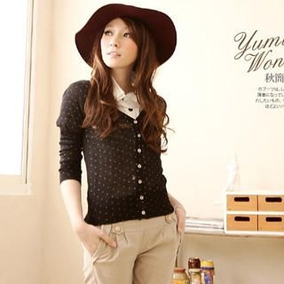 Dotted Knit Cardigan