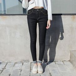 Denimot - Cuffed Skinny Jeans