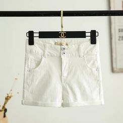 Neeya - Plain Buttoned Shorts