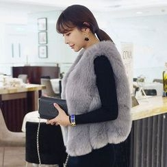 Seoul Fashion - Faux-Fur Vest