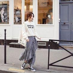 mimi&didi - Ruffle-Hem Striped Skirt