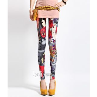 Lynley - Cartoon Print Leggings