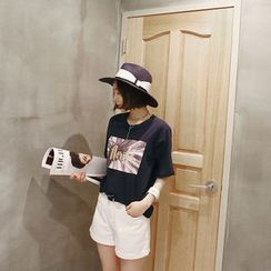 NANING9 - Cuff-Hem Shorts