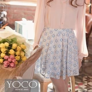 Tokyo Fashion - Floral Lace A-Line Skirt